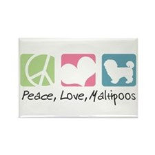 Peace, Love, Maltipoos Rectangle Magnet