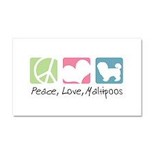 Peace, Love, Maltipoos Car Magnet 20 x 12