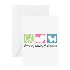 Peace, Love, Maltipoos Greeting Card