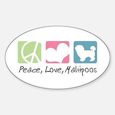 Peace, Love, Maltipoos Sticker (Oval)