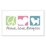 Peace, Love, Maltipoos Sticker (Rectangle 10 pk)