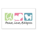 Peace, Love, Maltipoos Sticker (Rectangle 50 pk)