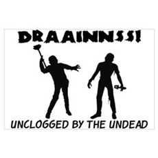 Zombie Drains Framed Print
