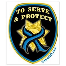 Thin Blue Line Serve Protect Poster