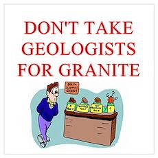 funny geologist geology joke Poster