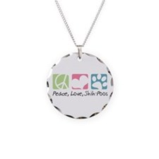 Peace, Love, Shih-Poos Necklace