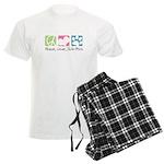 Peace, Love, Shih-Poos Men's Light Pajamas