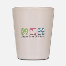 Peace, Love, Shih-Poos Shot Glass