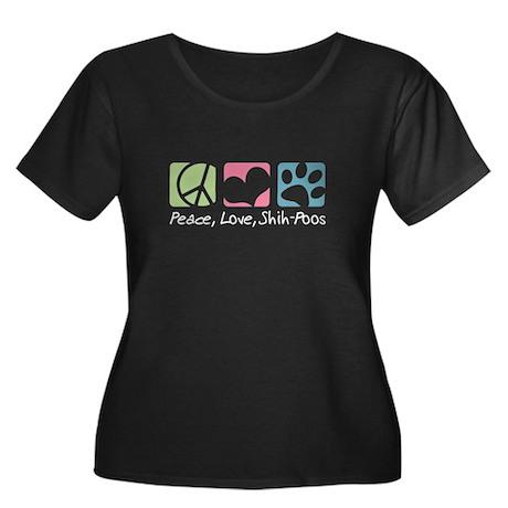 Peace, Love, Shih-Poos Women's Plus Size Scoop Nec