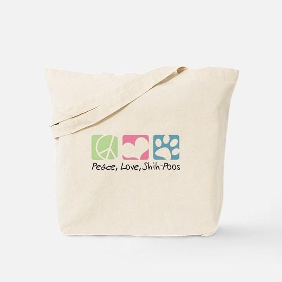Peace, Love, Shih-Poos Tote Bag