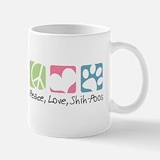 Peace, Love, Shih-Poos Mug