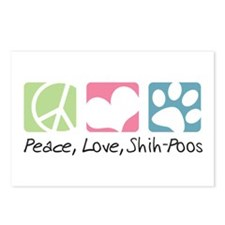 Peace, Love, Shih-Poos Postcards (Package of 8)
