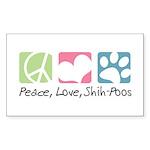 Peace, Love, Shih-Poos Sticker (Rectangle 50 pk)