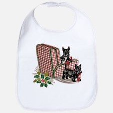 Scottie Dog Christmas Bib