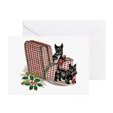 Scottie Dog Christmas Greeting Cards (Pk of 10)
