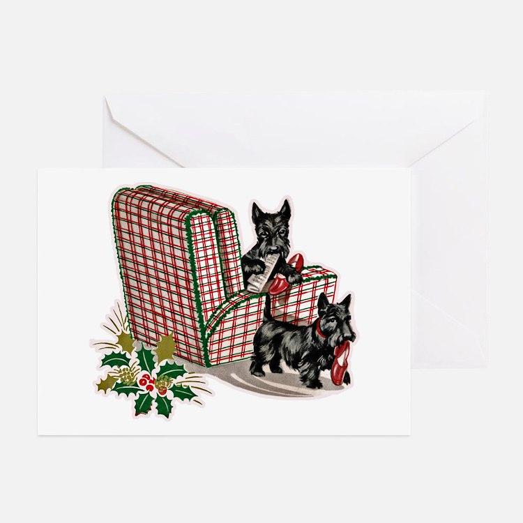 Scottie Dog Christmas Greeting Cards (Pk of 20)