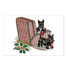 Scottie Dog Christmas Postcards (Package of 8)