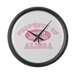 Property of Alissa Large Wall Clock