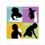 Montessori Wrapped Canvas Art