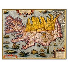 """Iceland Map"" Poster"