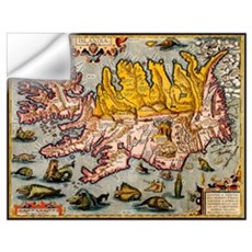 """Iceland Map"" Wall Decal"
