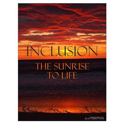 Inclusion the Sunrise to Life Poster