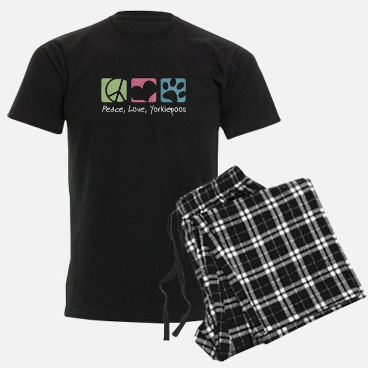 Peace, Love, Yorkiepoos Pajamas