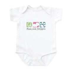 Peace, Love, Yorkiepoos Infant Bodysuit
