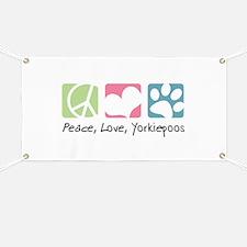 Peace, Love, Yorkiepoos Banner