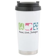 Peace, Love, Yorkiepoos Travel Mug