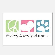 Peace, Love, Yorkiepoos Postcards (Package of 8)