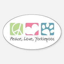 Peace, Love, Yorkiepoos Decal