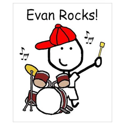 Drum Set - Evan Poster