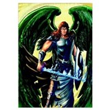 Archangel michael Wrapped Canvas Art