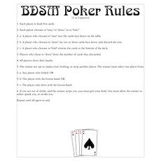 BDSM Poker Rules Poster