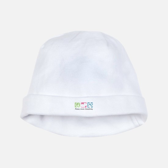 Peace, Love, Cavachons baby hat