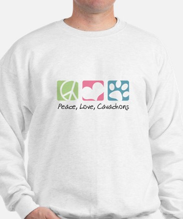 Peace, Love, Cavachons Sweatshirt