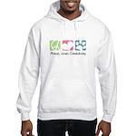 Peace, Love, Cavachons Hooded Sweatshirt