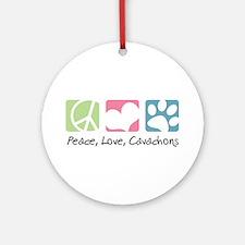 Peace, Love, Cavachons Ornament (Round)