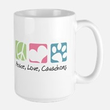 Peace, Love, Cavachons Large Mug