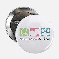"Peace, Love, Cavachons 2.25"" Button (100 pack)"