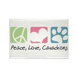 Peace, Love, Cavachons Rectangle Magnet (10 pack)