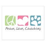 Peace, Love, Cavachons Small Poster