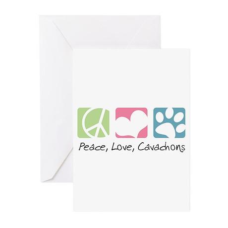 Peace, Love, Cavachons Greeting Cards (Pk of 10)
