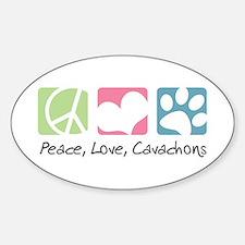 Peace, Love, Cavachons Decal