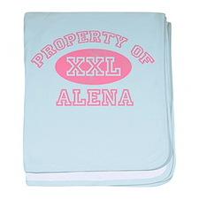 Property of Alena baby blanket