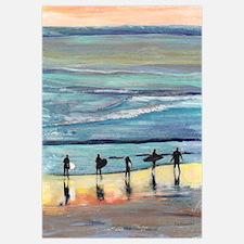 Surefers at Sunset by Riccoboni
