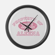 Property of Aleena Large Wall Clock