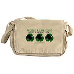 Recycled Cane Corso Messenger Bag