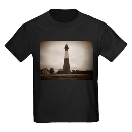 Tybee Island lighthouse 14 Kids Dark T-Shirt